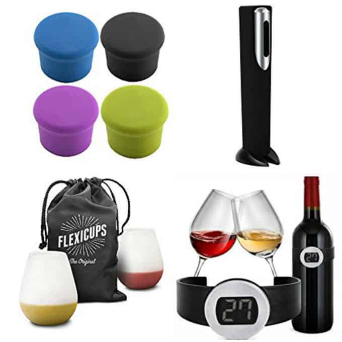 collage of wine gifts