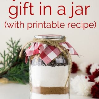 Brownie Mix in a Jar Gift with Free Printable Tag