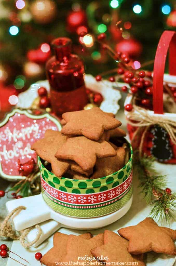 Nothing says Christmas like Homemade gingerbread cookies-this recipe for cut out gingerbread cookies turns out delicious cookies that are still delightfully chewy on the inside!