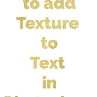 Simple tutorial showing how to add texture to text using Photoshop CC