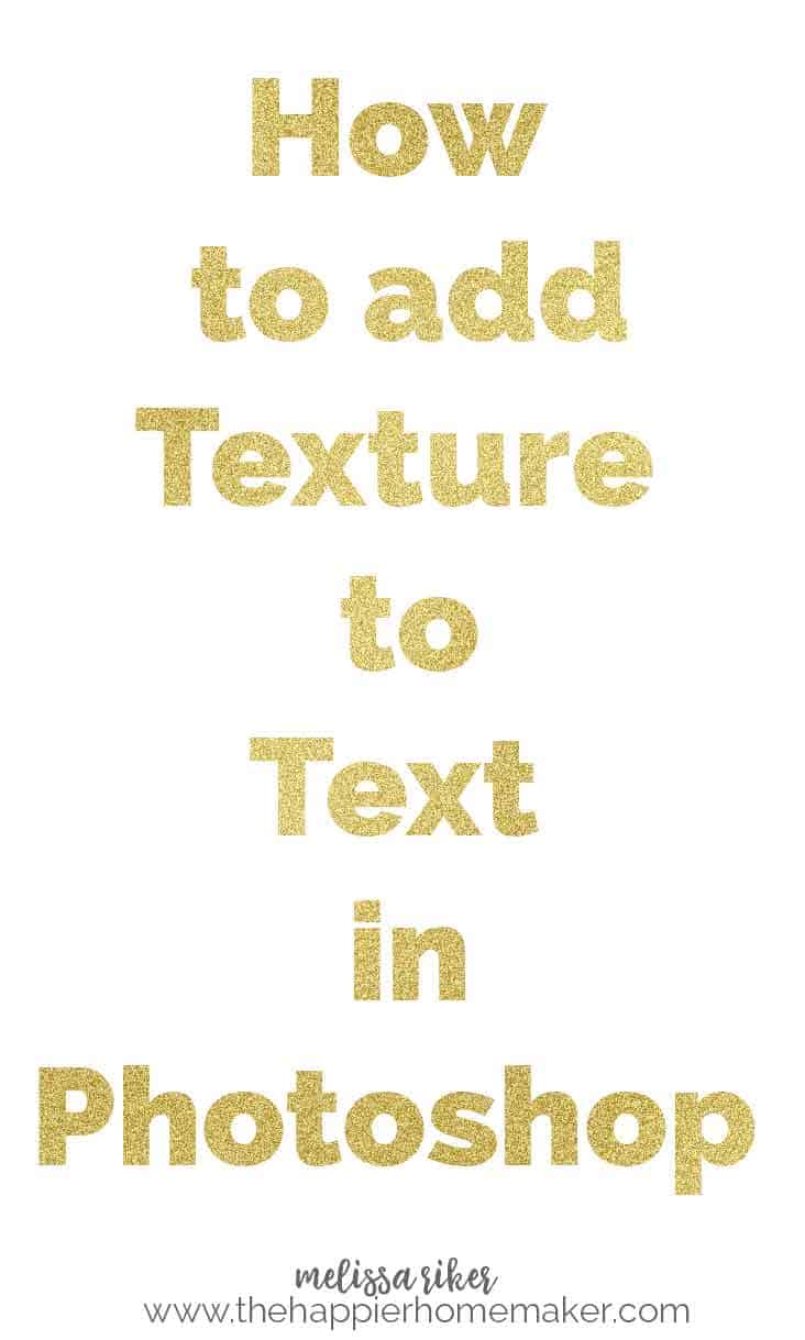 A simple tutorial illustrating how to add texture or images to text using Photoshop CC.