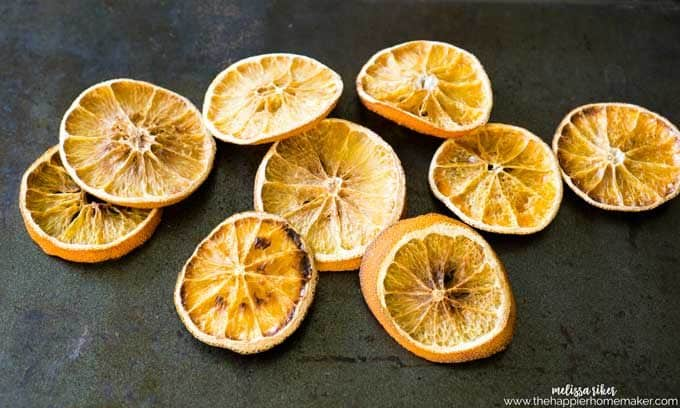 how to dry orange slices easily in the oven-perfect for decor, crafts or making your own potpourri!