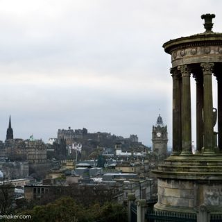 Calton Hill in Edinburgh is close enought o walk to and offers amazing views of Old Town and New Town.