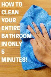 How to clean your entire bathroom fast-just 5 minutes, just like the professional cleaners!