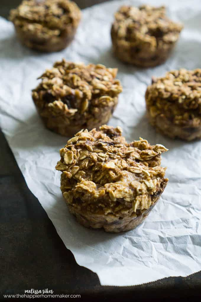 Healthy Low Fat No Sugar Added Apple Oatmeal muffins are an easy way to satisfy your sweet cravings!