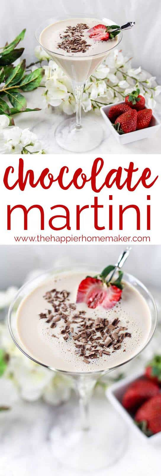 Best Ever Chocolate Martini (with Secret Ingredient!)