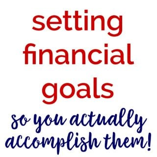 Setting Financial Goals: 2017