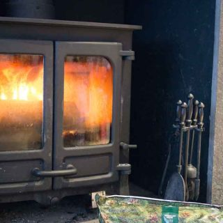 What a great idea-this fire log smells like Yankee Candle Balsam Fir!
