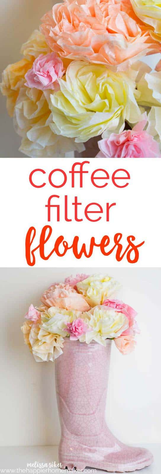 Springtime coffee filter flower bouquet the happier homemaker spring inspired coffee filter flower bouquet is perfect for brightening up your home also great izmirmasajfo