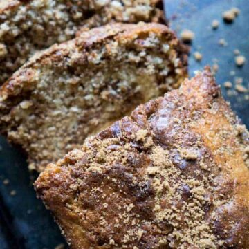 sliced cinnamon sugar bread