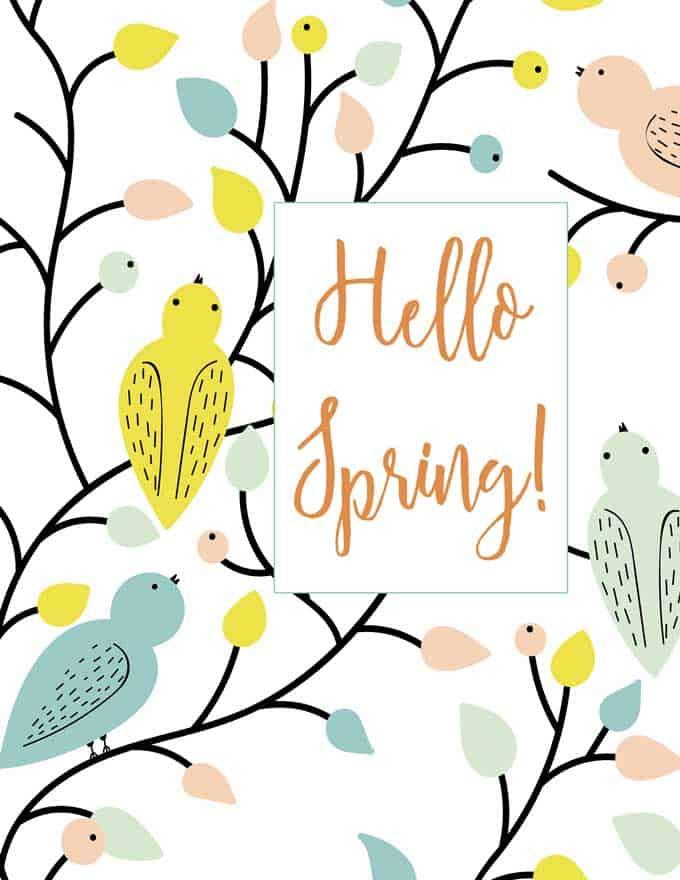 printable reading hello spring