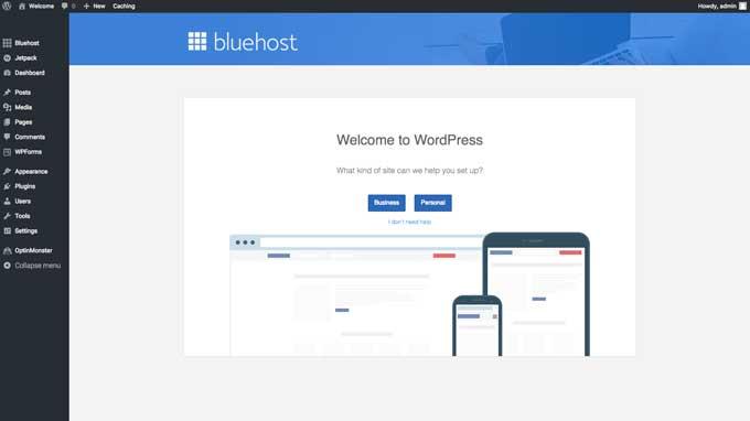 Bluehost website screenshot