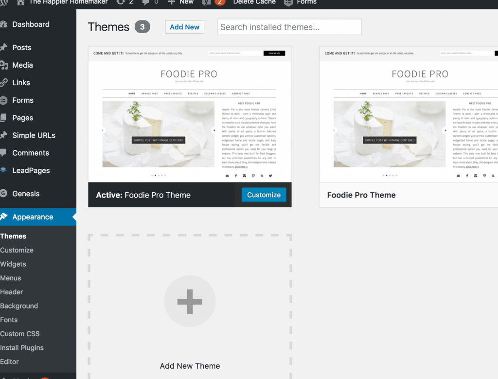 How to install a WordPress Genesis theme step by step tutorial.