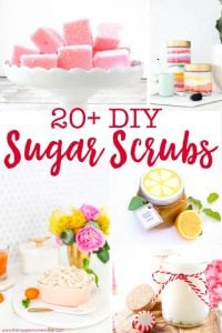 Over 20 DIY Sugar Scrub Recipes you can make at home to get your skin glowing!