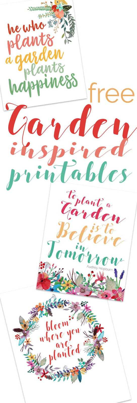 Free Garden Inspired printables to decorate your home are perfect for a spring or summer decor update or framed as a gift idea for the gardener in your life!