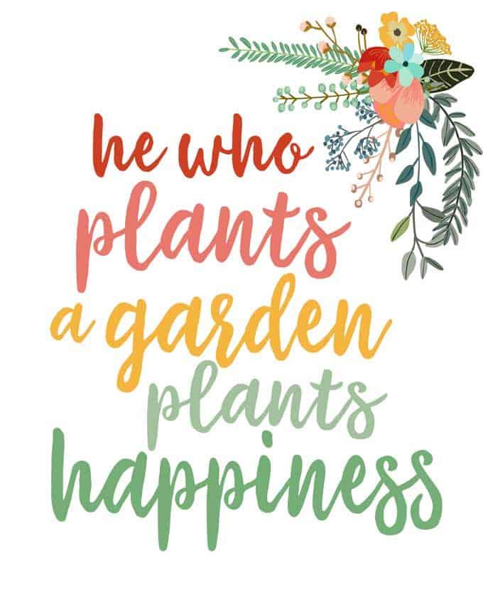 garden quote printable