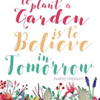 Free Garden Quote Printable Art