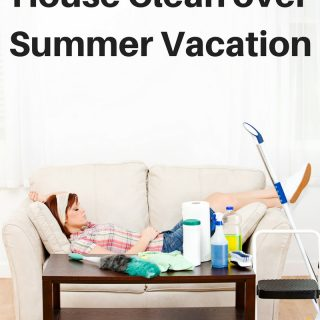 How to Keep Your House Clean During Summer Vacation- it's hard to keep an organized and clean home with the kids home all day, try these tips and tricks to make cleaning your house over the summer easier and faster so you can enjoy your vacation!