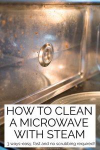 inside of clean microwave