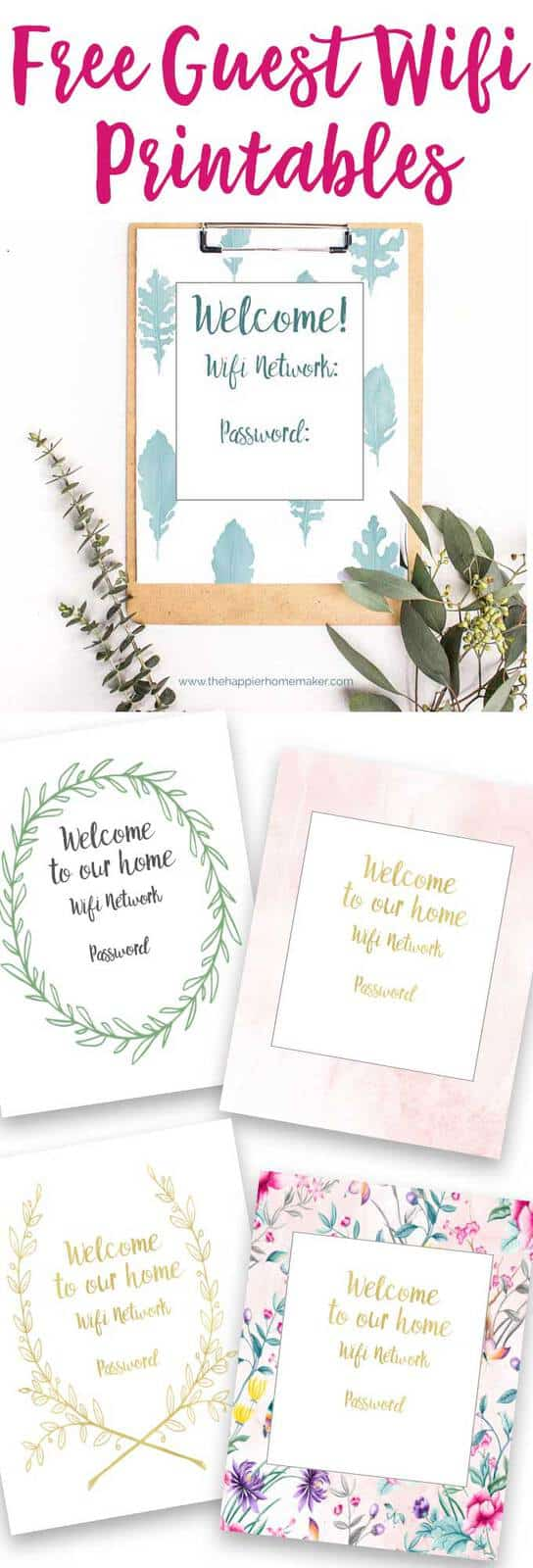 Free Guest Wifi Printables - Welcome Your Guests in Style
