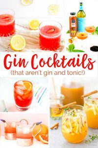 20 different gin cocktails that go above and beyond a standard gin & tonic!