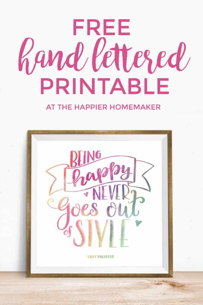 Printable Handwriting Book Cover ~ Free printable online lettering class the happier