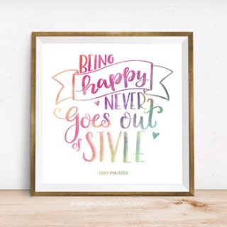 Free Printable + Online Lettering Class!