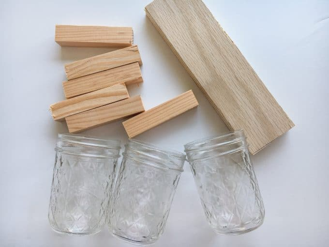 Materials for Mason Jar utensil organizer