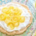 Candied Lemon Pavlova with Fresh Whipped Cream