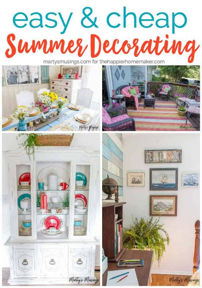 Inexpensive and easy ways to update your decor for summer-cheap summer decorating ideas