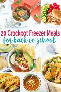 20 Freezer to Crockpot Meals that are family friendly and perfect for that hectic back to school transition!