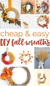 Over 20 cheap and easy DIY Fall wreaths you can make at home (no Pinterest fails!)