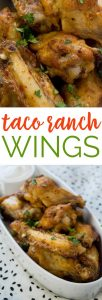 Taco Ranch Chicken Wings are an easy appetizer recipe perfect for tailgating parties during football season!