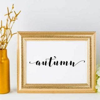 free hand lettered script printables for decorating your home