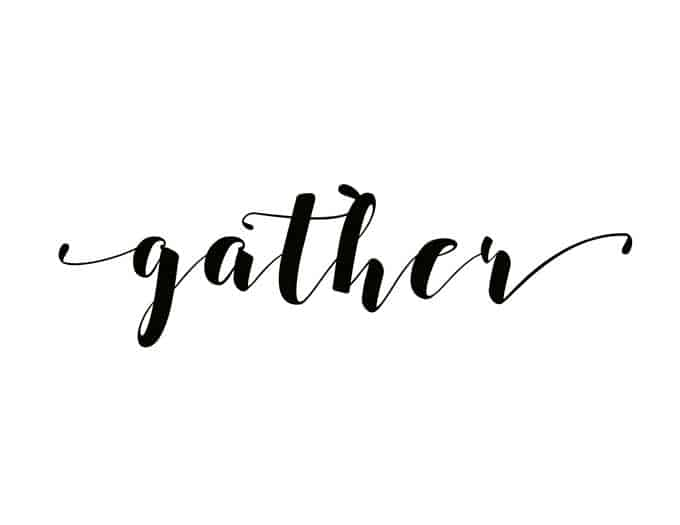 gather written in script