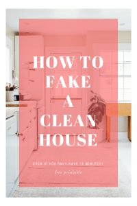 How to fake a clean house, even if you only have 15 minutes. Great for when you have unexpected guests on short notice!