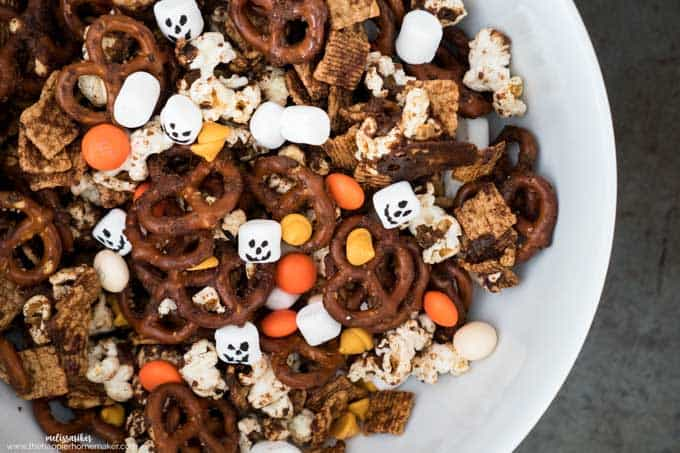 Pumpkin Spice Snack Mix is the perfect fall treat recipe- easy to put together with all your favorite autumn flavors!