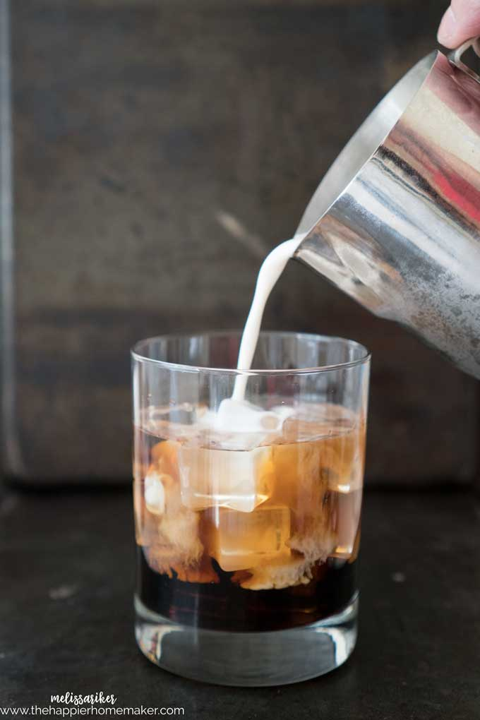 Pumpkin Pie White Russian is the perfect autumn cocktail recipe-a fall version of the classic Kahlua and cream mixed drink.
