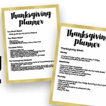 thanksgiving planner sheets