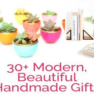 30+ Modern Handmade Gift Ideas