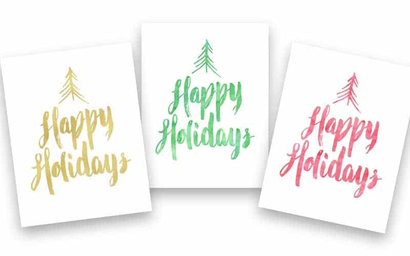 Update your holiday decor with these 3 fun Christmas printables in your choice of red, green or gold!