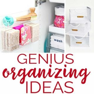 Who's ready top get organized? Try these genius organizing ideas to help you get control of your chaos!