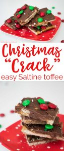Christmas Crack is an easy to make Saltine cracker toffee that's the perfect holiday recipe for gifting!