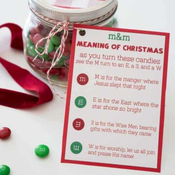 M&M Christmas poem printable