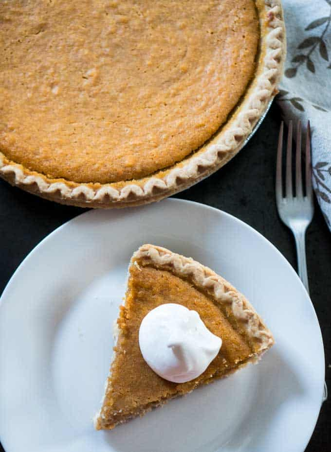 Homemade Sweet Potato Pie is easier than you think! This classic Southern dessert recipe is perfect for the holidays!