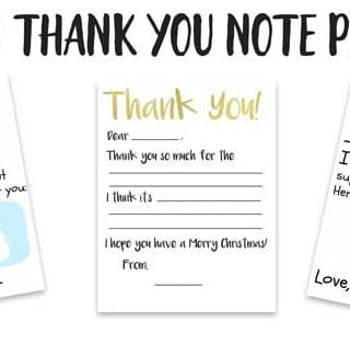 Make writing thank you notes easier for young children with this free printable Kid's Thank You Note printable. The fill in the blank style is easier for emerging writers!