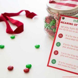 M&M Christmas Poem Printable & Gift