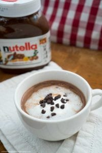 This Nutella Hot Chocolate recipe is very easy and can be ready in ten minutes. Using on three ingredients its the perfect winter treat!