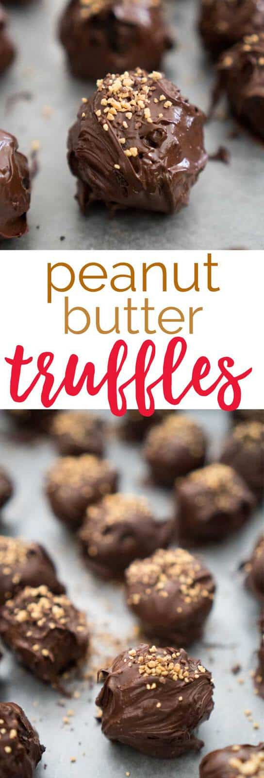 Easy three ingredient Peanut Butter OREO truffles are a no bake dessert that even the kids can make! Perfect for holiday gifting. #recipes #chocolate #dessert #oreo