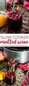Slow Cooker Mulled Wine is a classic winter drink recpie perfect for entertaining at those holiday parties! Inspired by the British Christmas Markets!